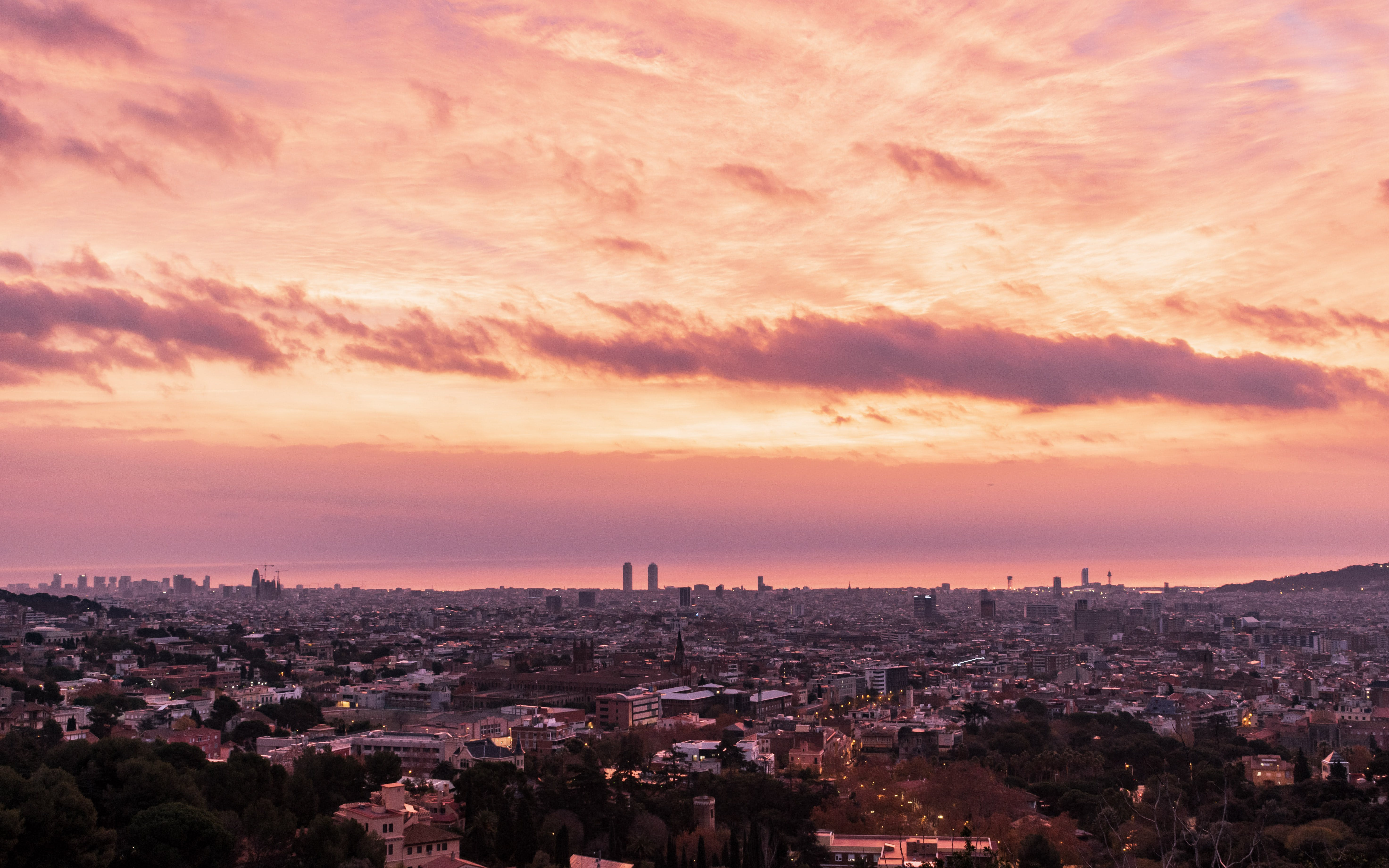 Free stock photo of barcelona, city, clouds, dawn