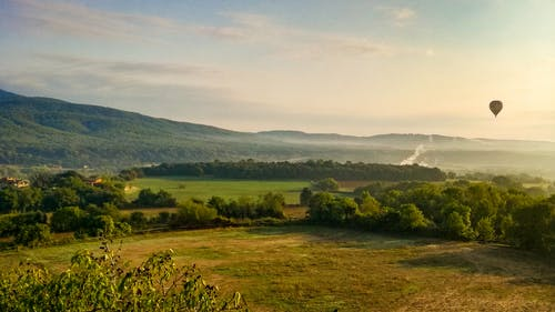 Free stock photo of dawn, Hot air ballon, landscape