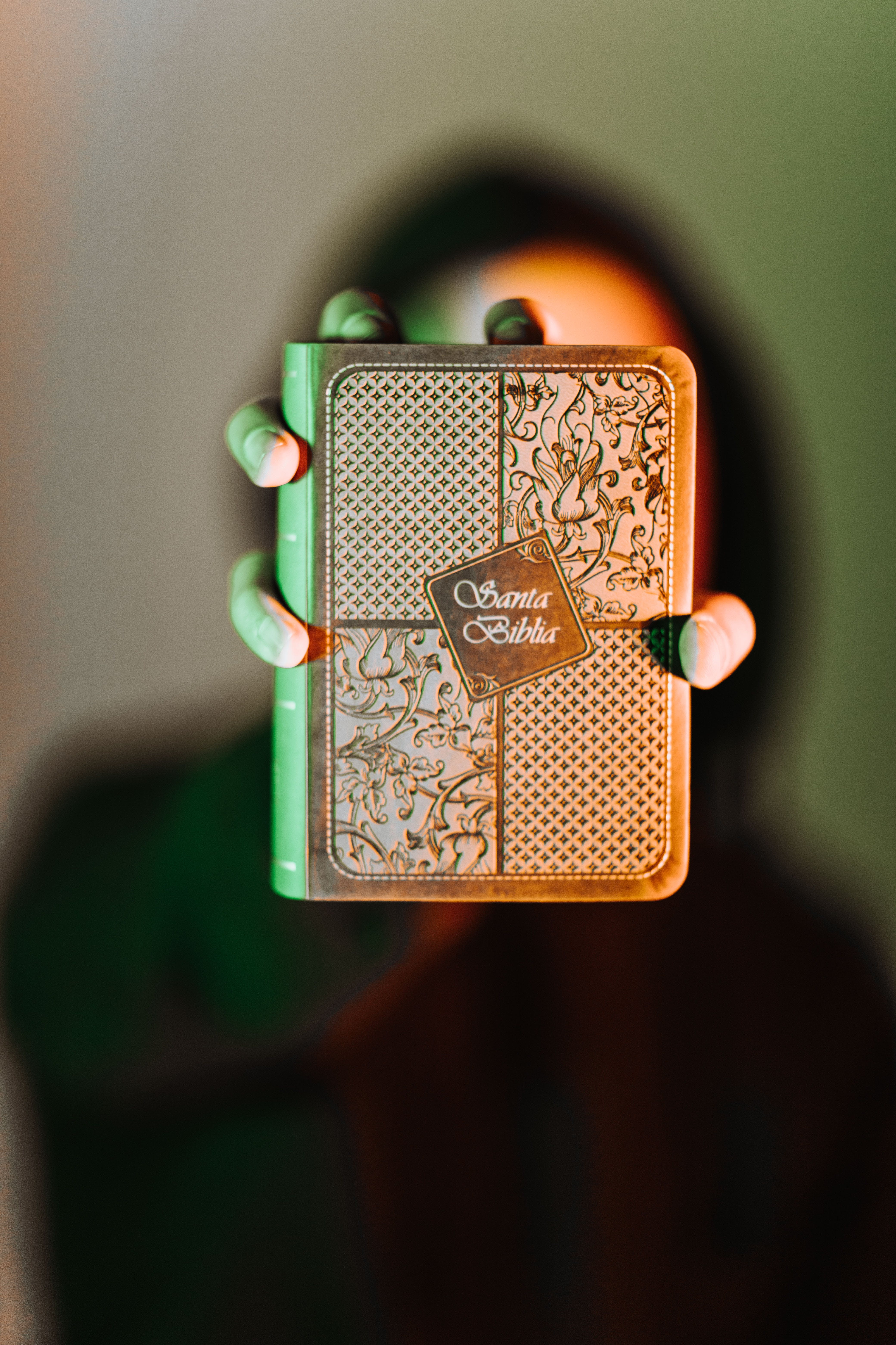 Green and Brown Leather Flip Lighter