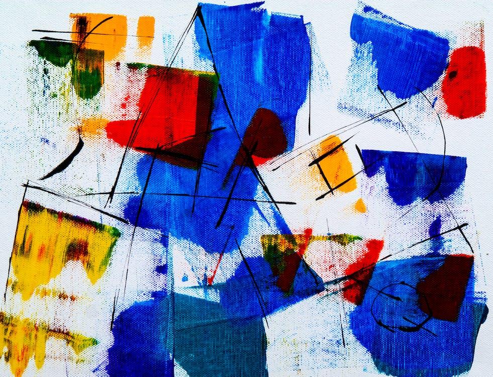 абстрактна картина, абстрактний експресіонізм, акрилова фарба