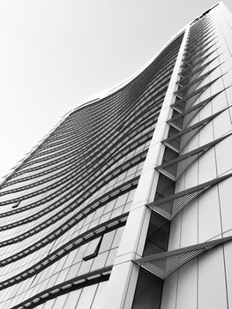 Grey and Black High Rise Building