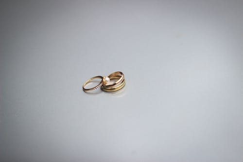 Free stock photo of gold rings, jewellery, jewelry band, wedding bands