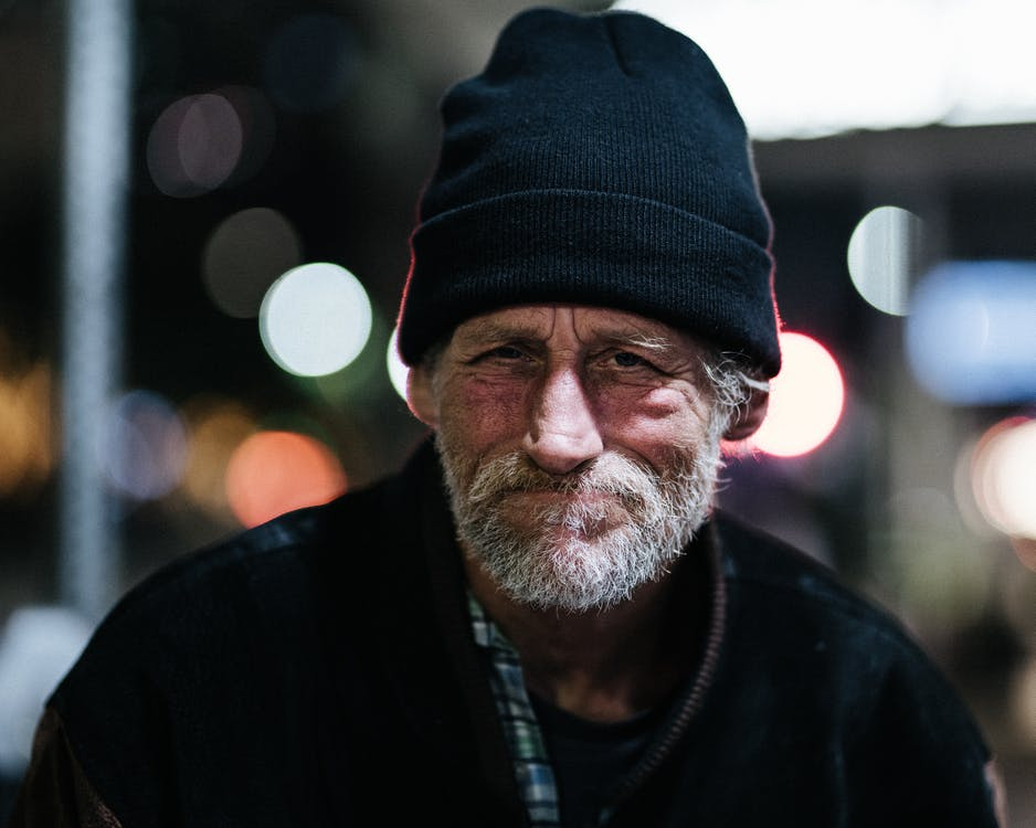 homeless, night photograph, street photography