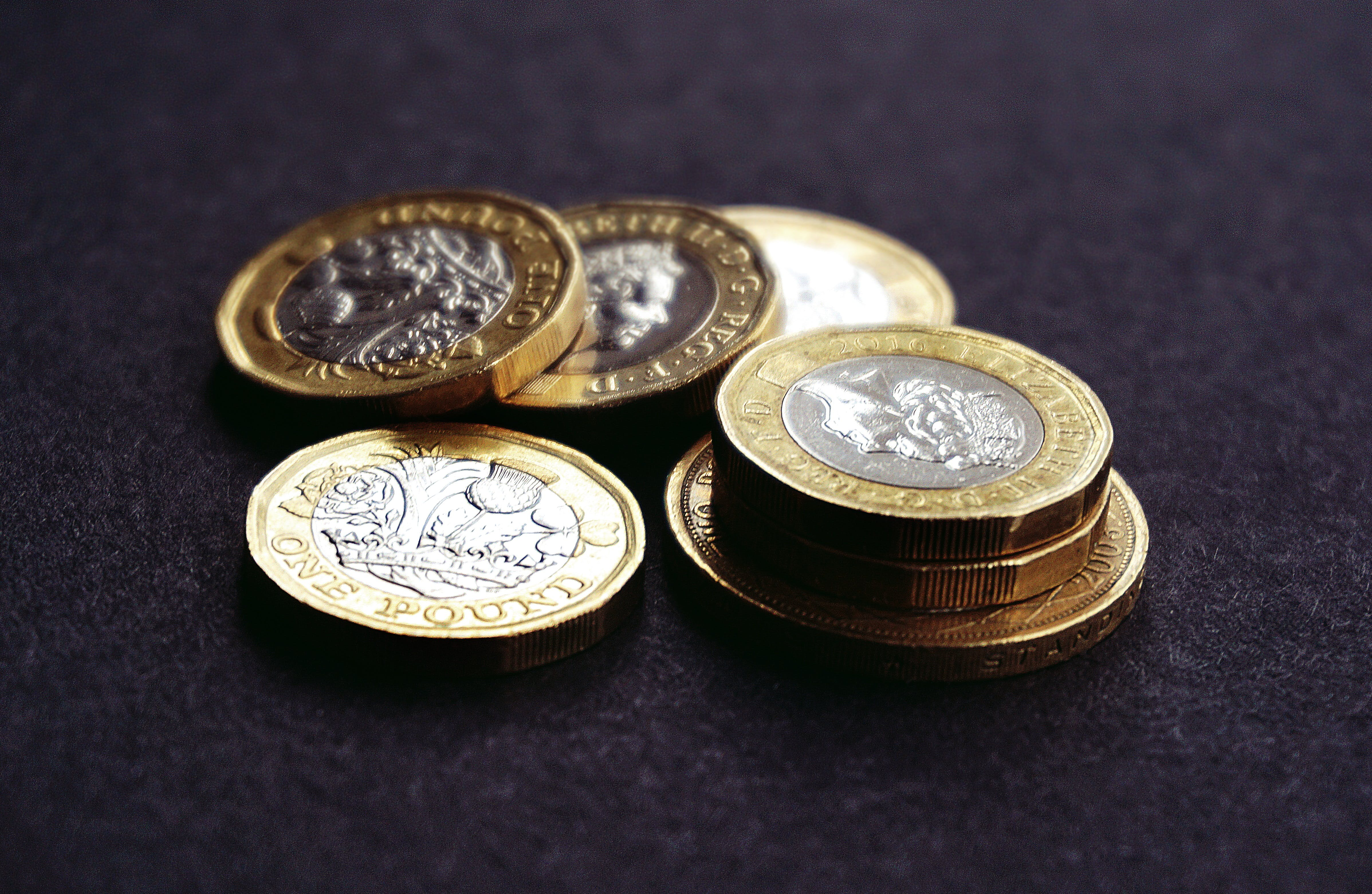 Free stock photo of british, cash, coins, currency