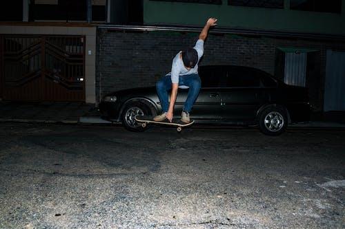 おとこ, スケートボーダー, スケートボード, ファッションの無料の写真素材