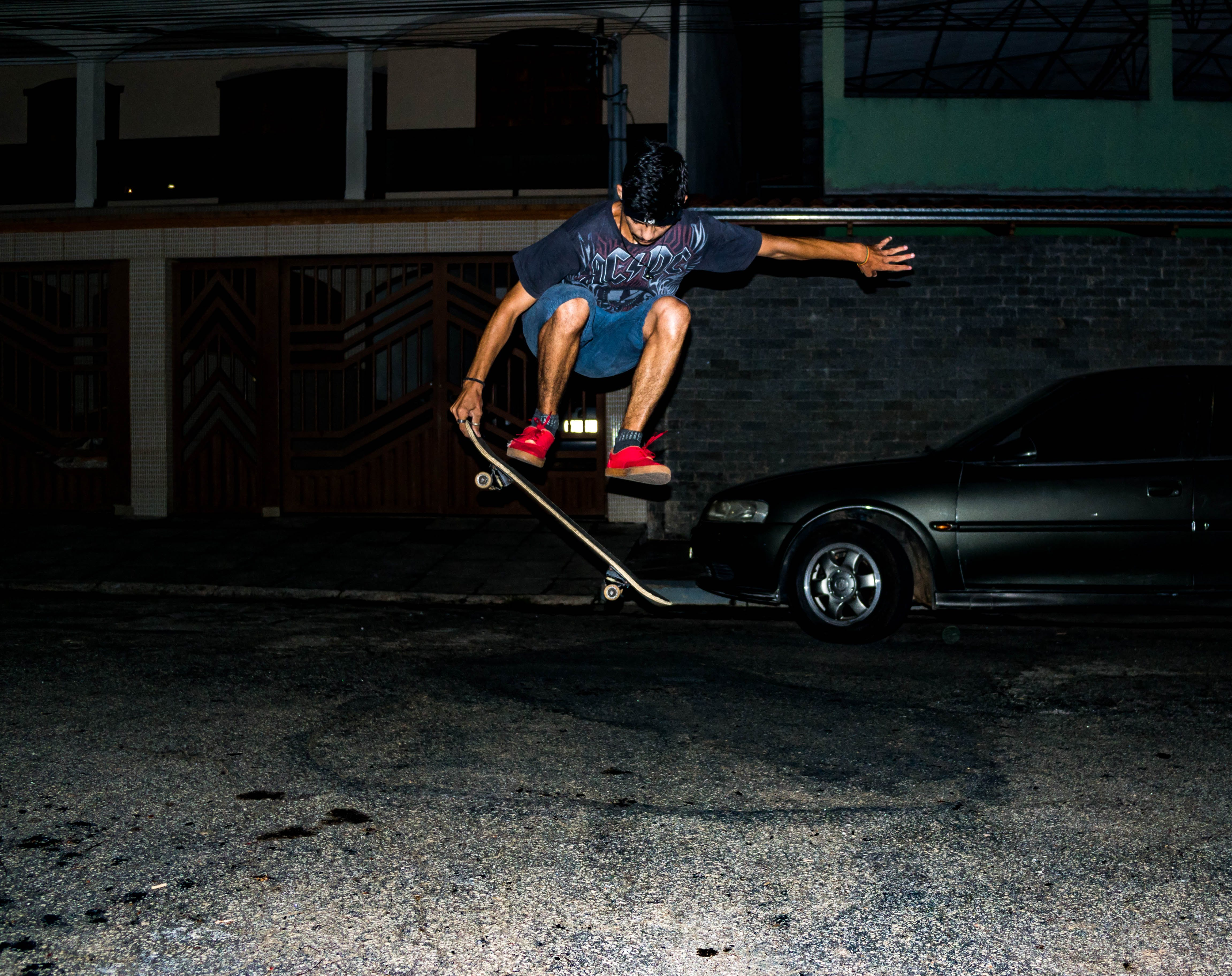 Skateboarder Doing Tricks