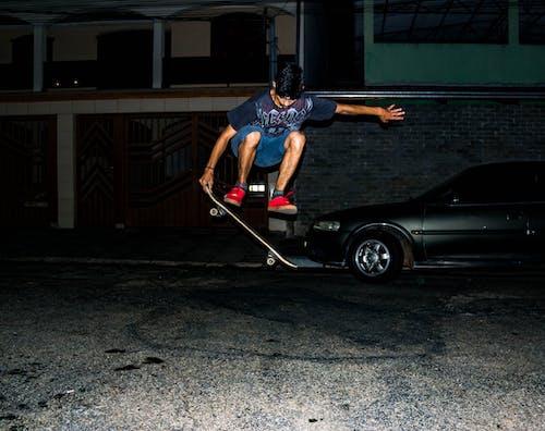Ingyenes stockfotó akció, autó, egyensúly, éjszaka témában