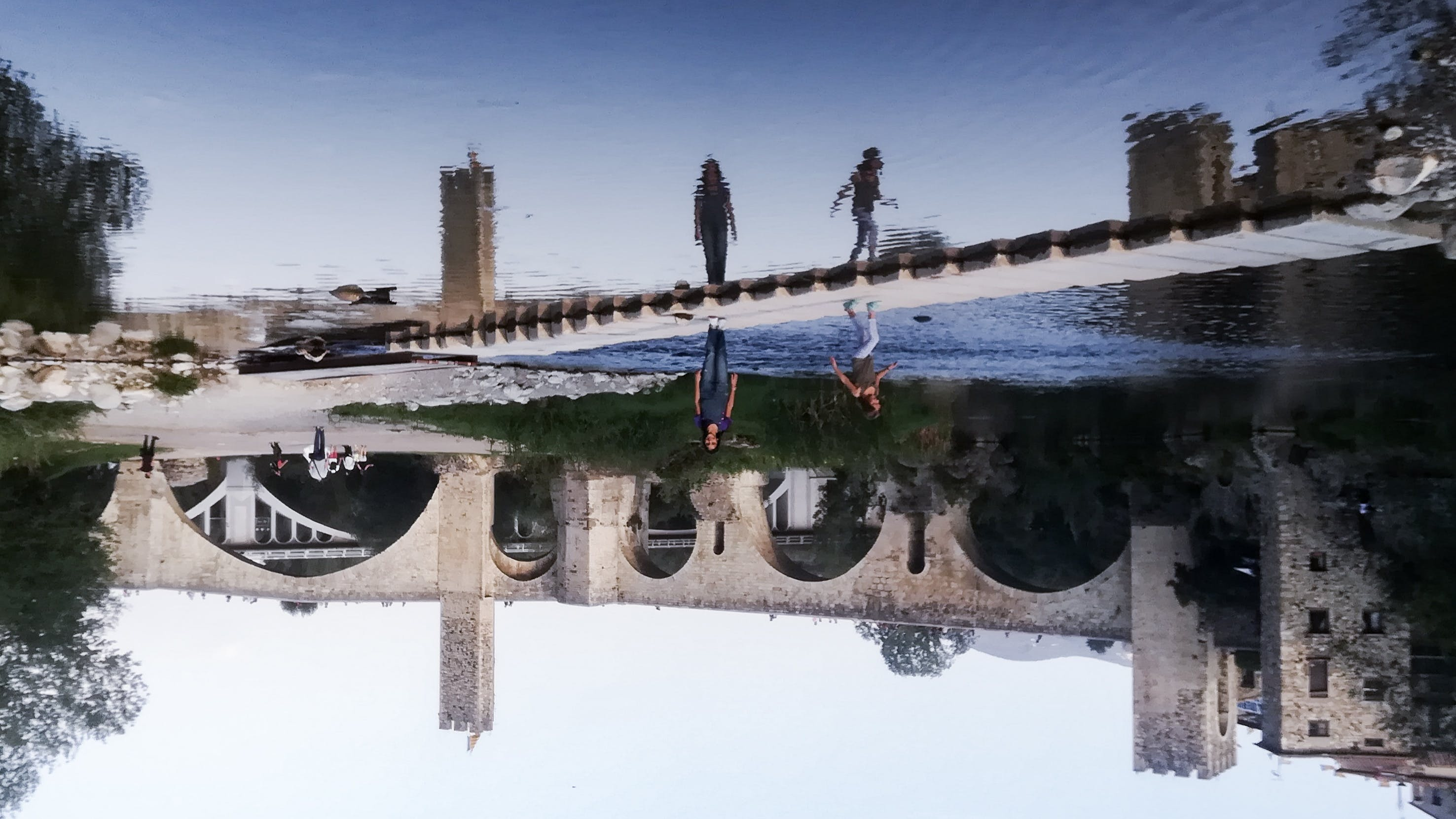 Free stock photo of girls, old town, reflections, river