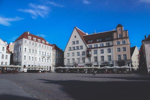 거리, 건물, 도시, 에스토니아의 무료 스톡 사진