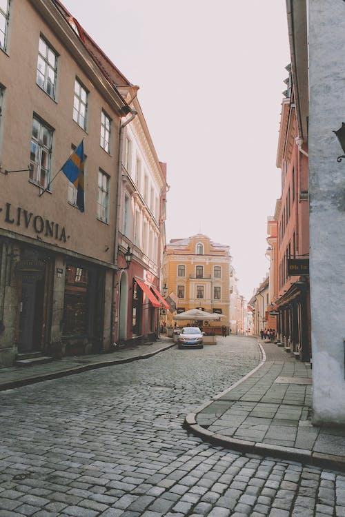 거리, 건물, 구시가지, 에스토니아의 무료 스톡 사진