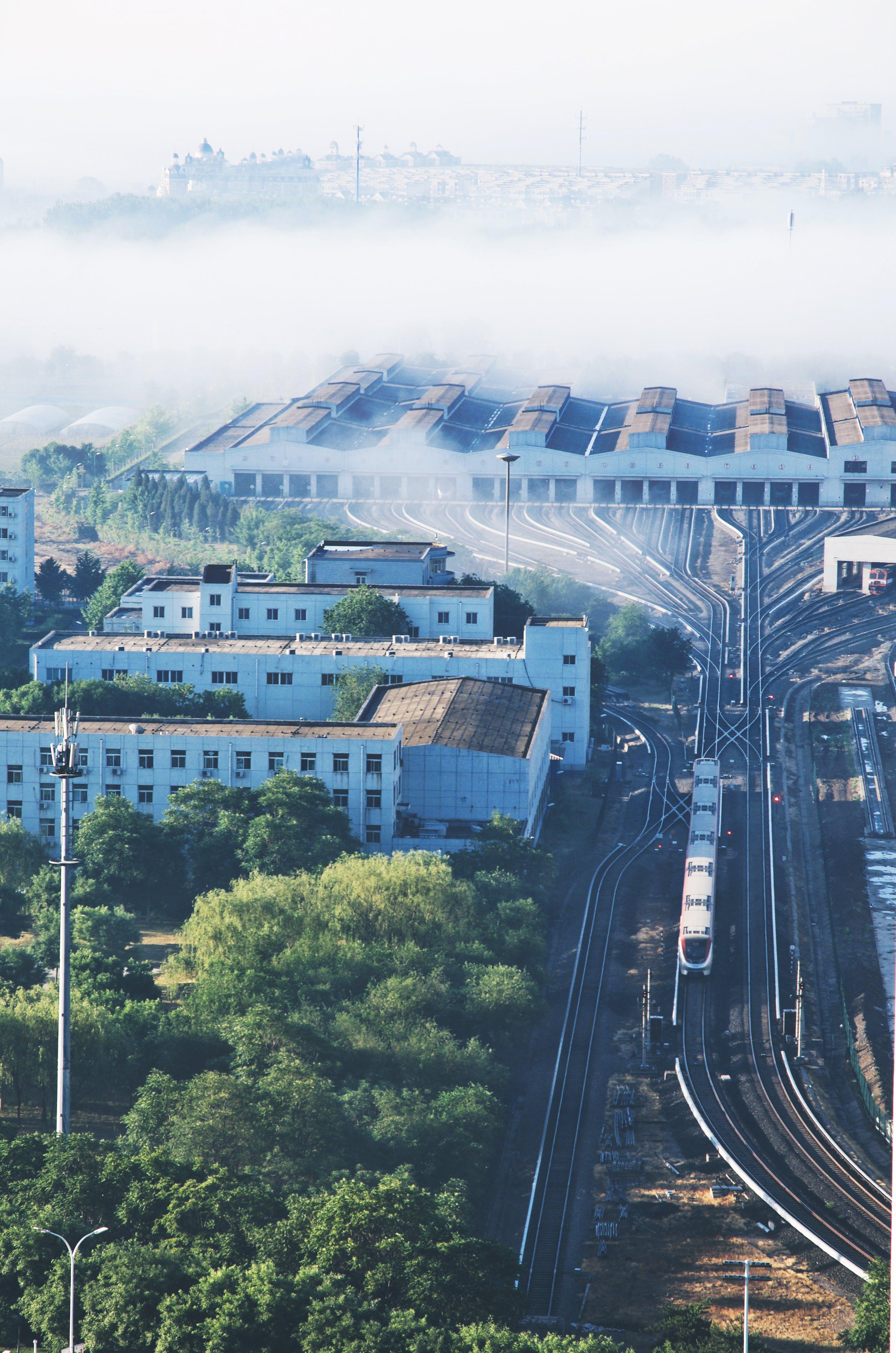 Ingyenes stockfotó #állomás, #köd, #reggel, #vonat témában