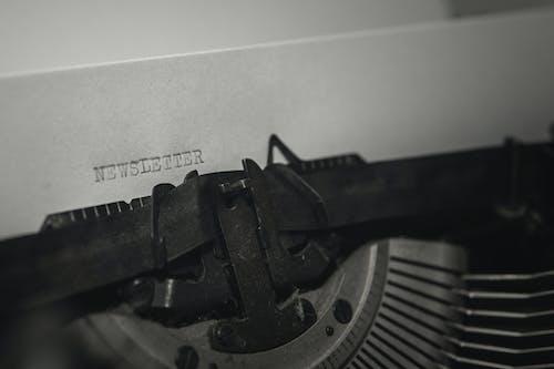 Δωρεάν στοκ φωτογραφιών με vintage, άρθρα, ασπρόμαυρο, γραφομηχανή