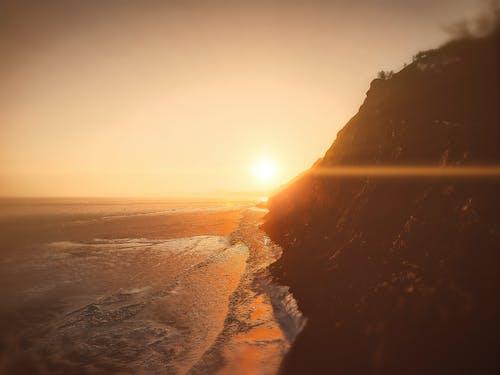 Photos gratuites de baïkal, coucher de soleil magique, coucher de soleil sibérien, eau gelée