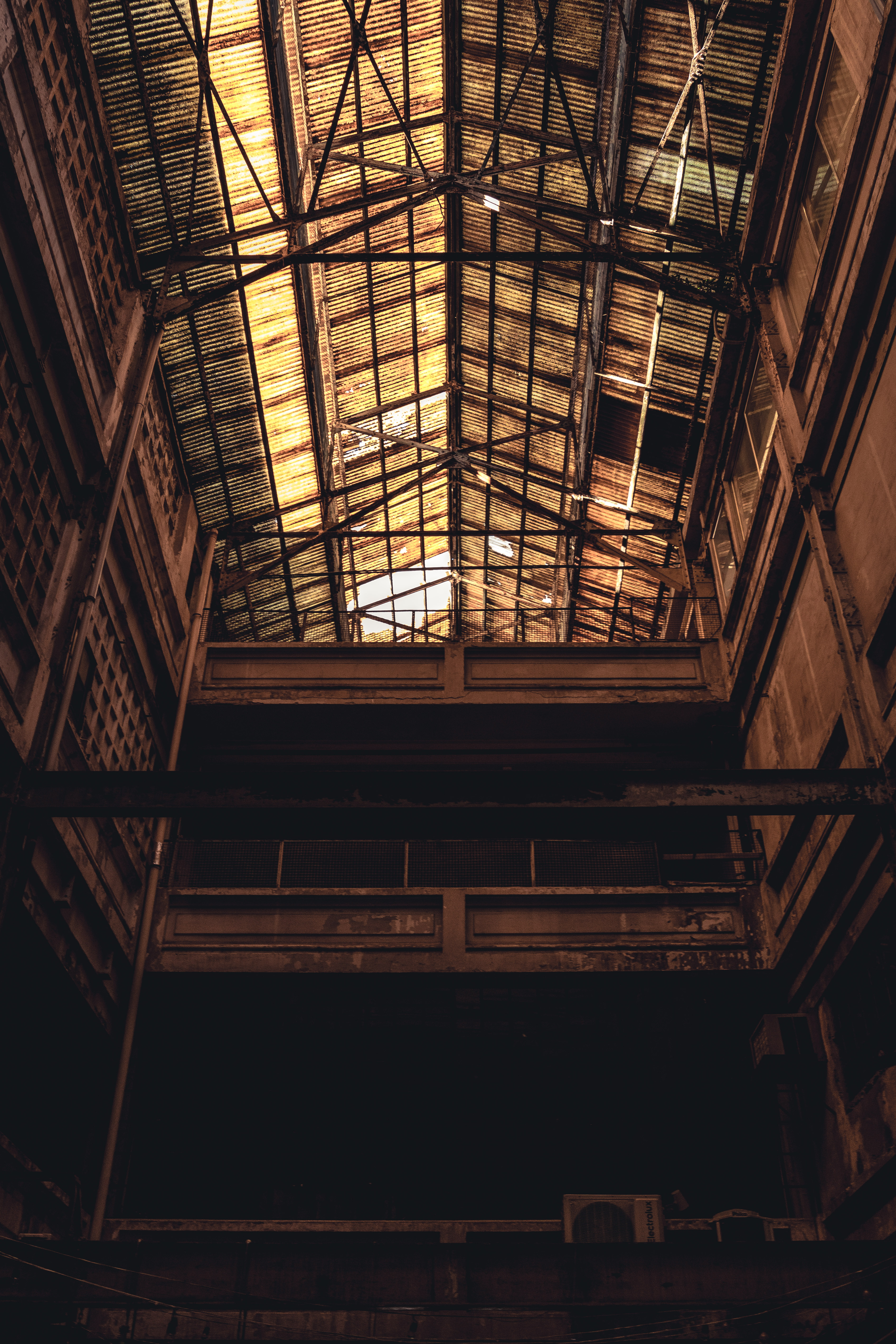 Architectural Photography of Brown Building Interior View