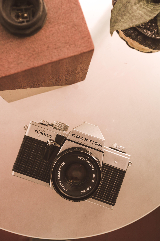 Black and Gray Praktica Camera