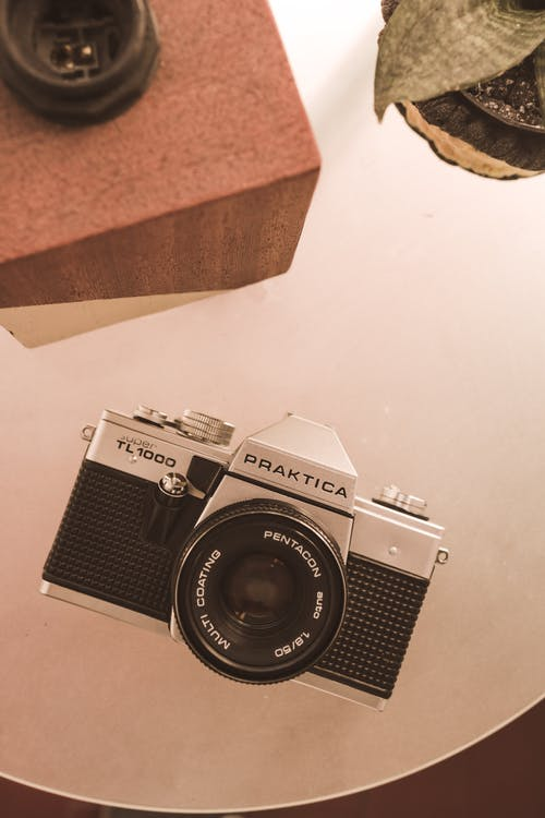 Black and Gray Praktica Camera