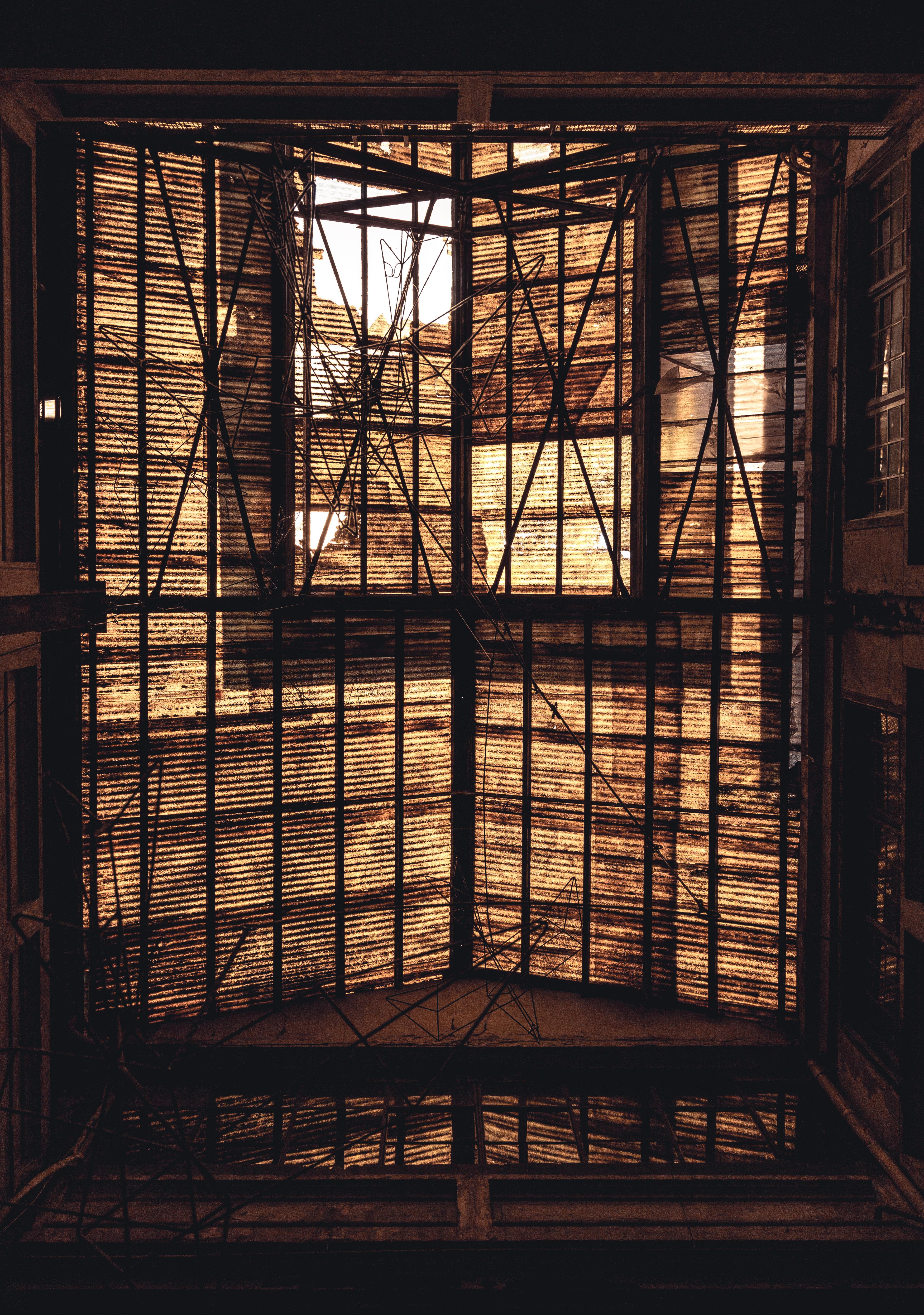Brown Metal Ceiling