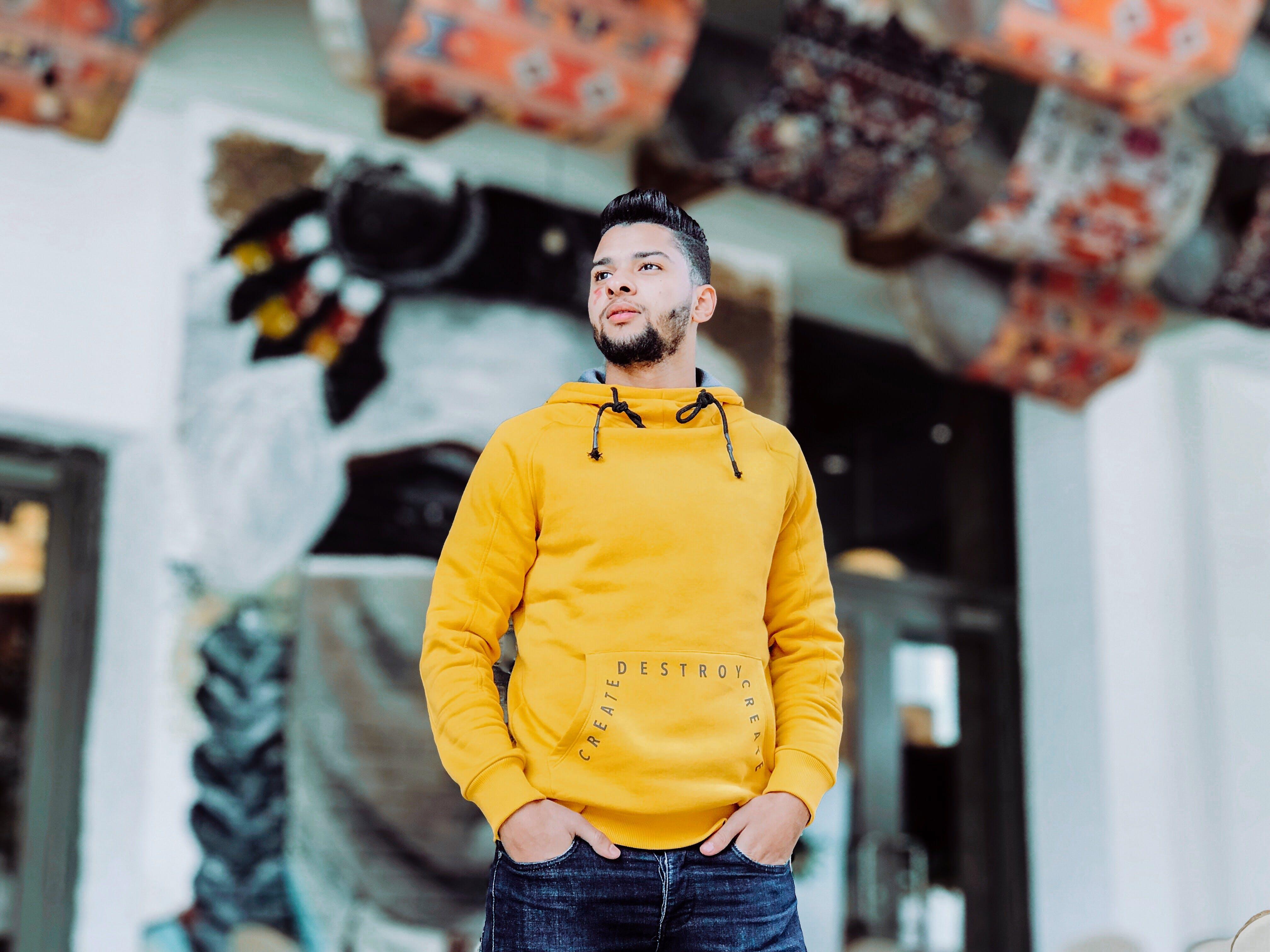 Men's Yellow Dress Shirt