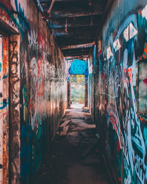 Foto Der Graffiti Wand