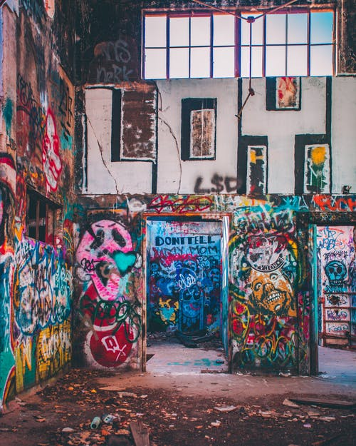 Photo of Abandoned Building With Graffiti