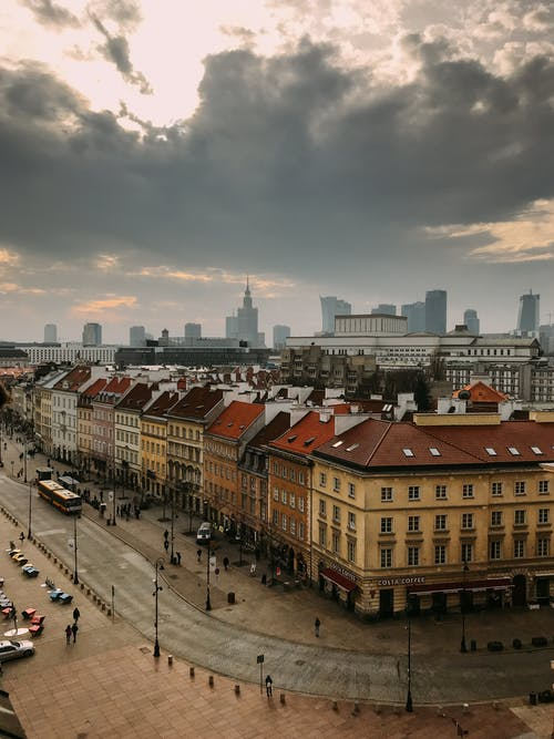 Free stock photo of old town, square, warsaw