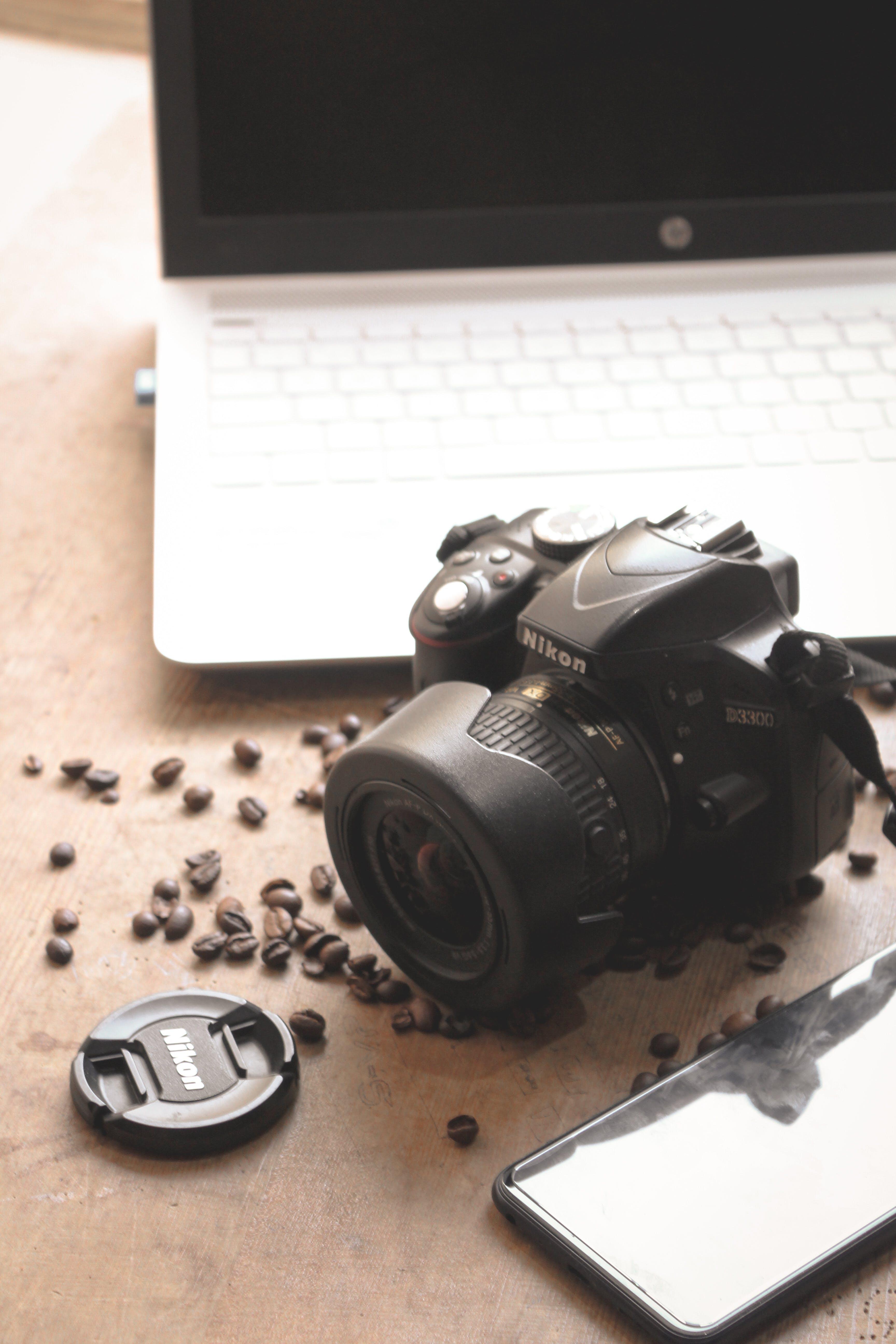 Free stock photo of 4k wallpaper, black and white, black coffee, camera