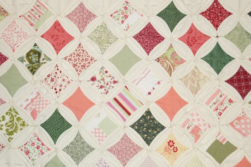 Free stock photo of cathedral window pattern, handcraft, quilt, quilt in progress