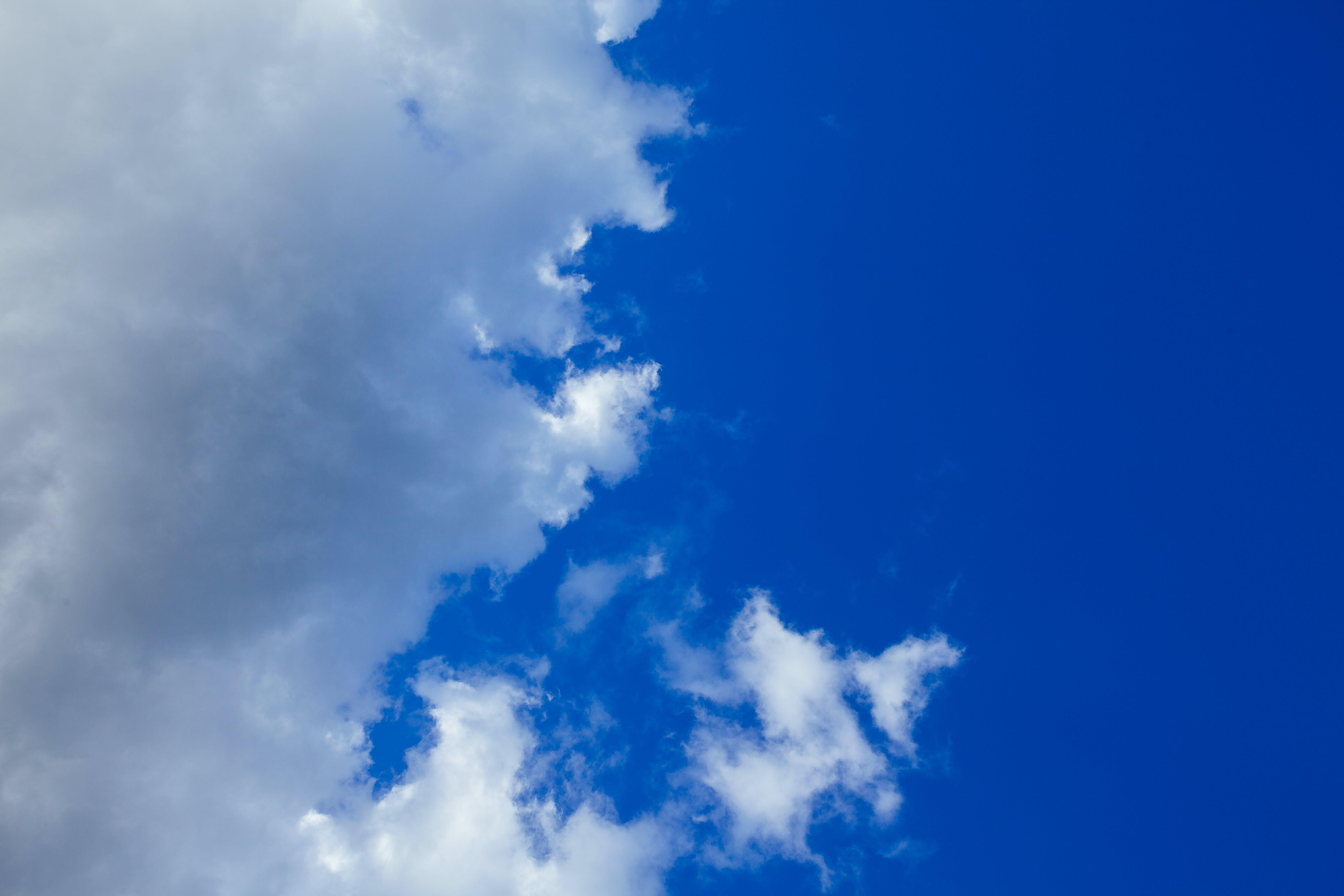 Kostenloses Stock Foto zu bewölkt, blau, flaumig, himmel