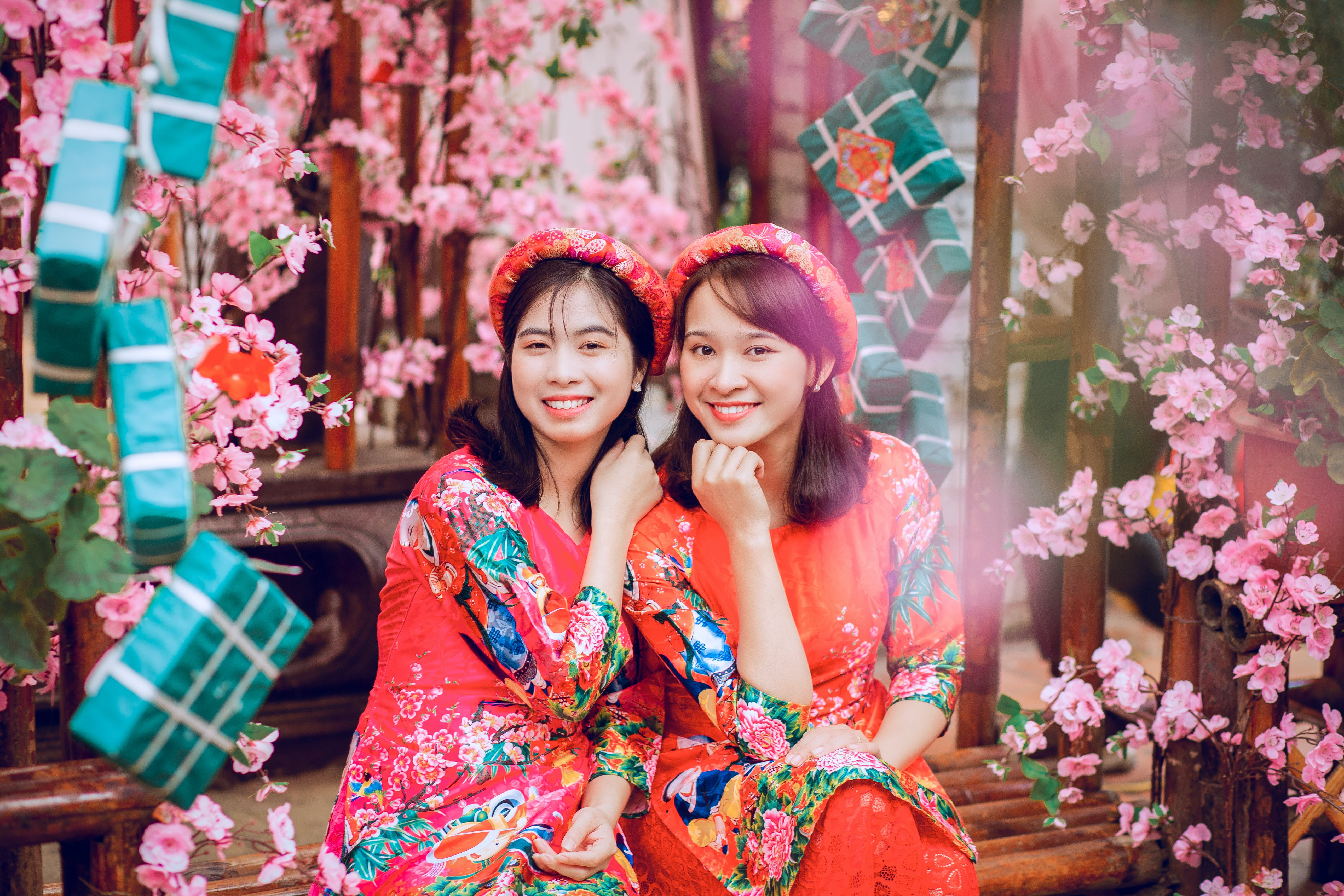 Photo of Girls Wearing Floral Dress