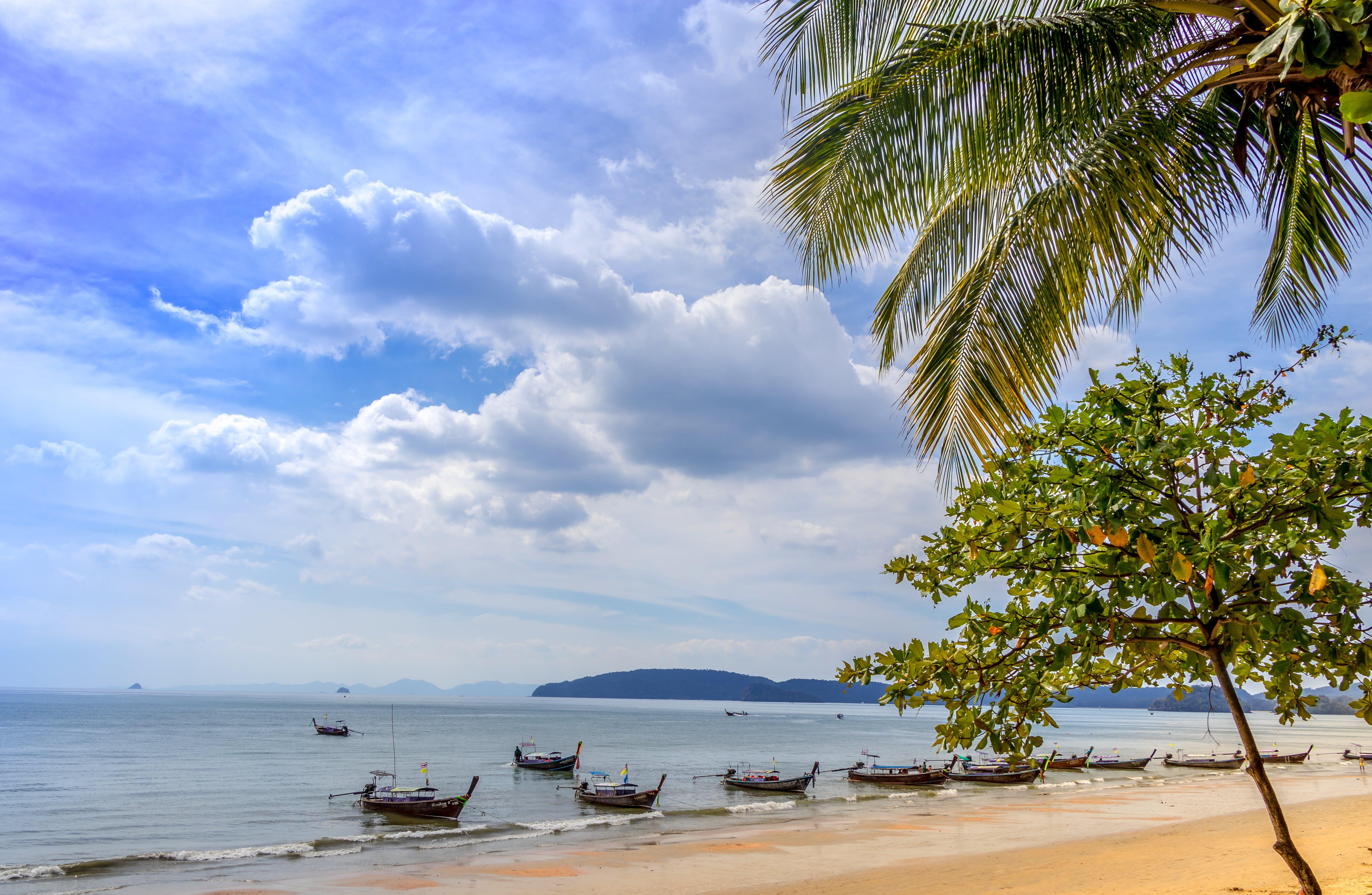 Free stock photo of beautiful, boat, clouds, Krabi