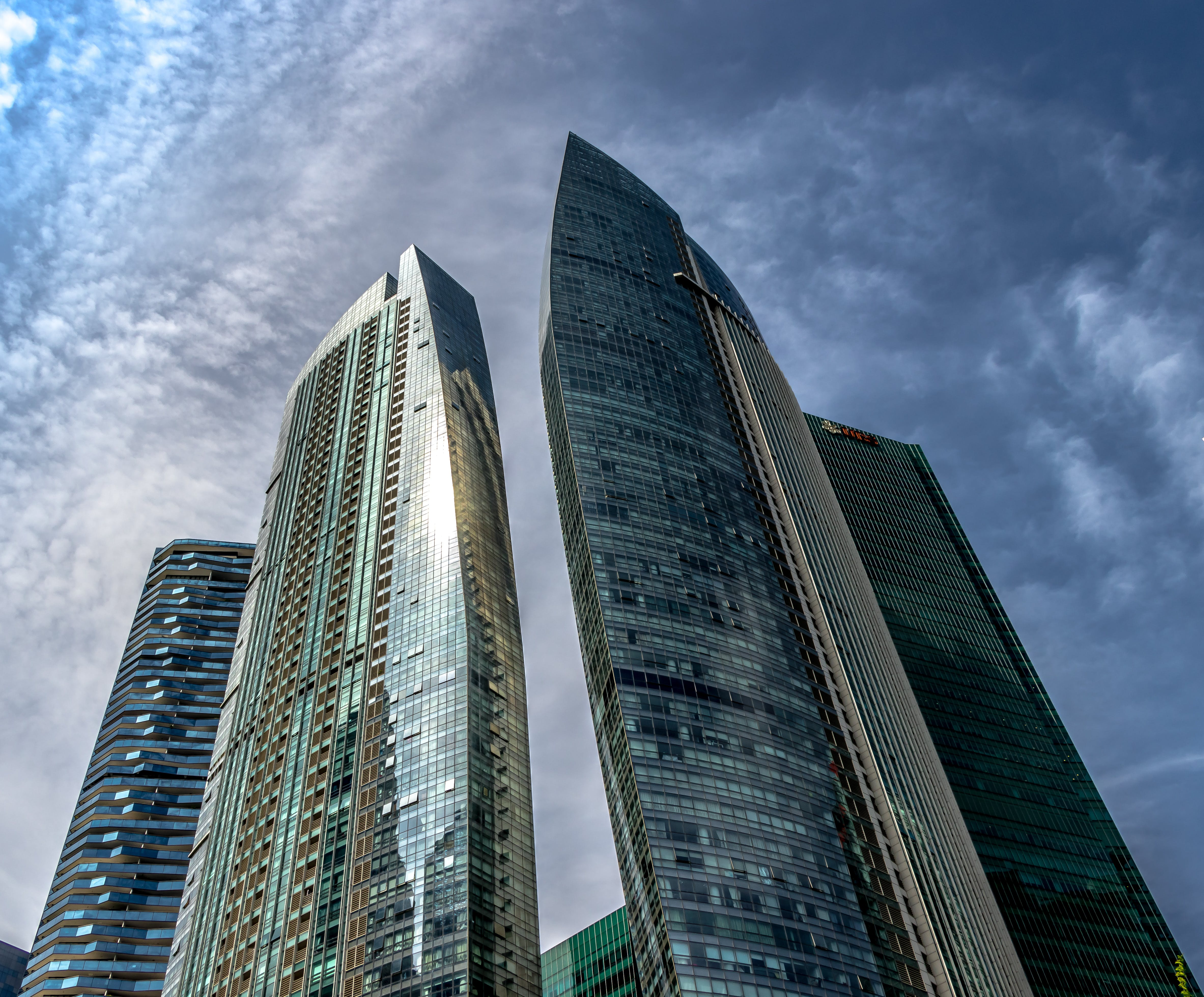 Kostenloses Stock Foto zu architektur, glas, himmel, singapur