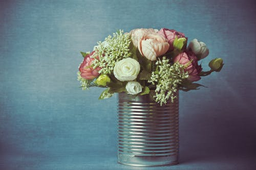 Photo of Bouquet Of Flowers In Can