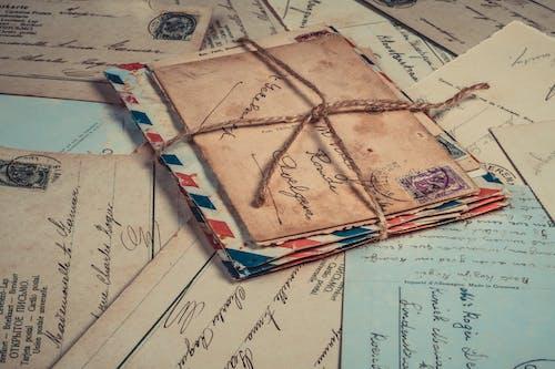 Photos gratuites de calligraphie, cartes postales, commerce, courrier