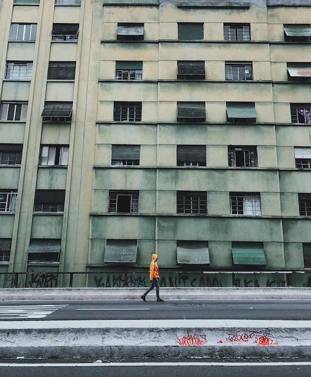 architektura, asfalt, beton