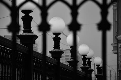 Foto d'estoc gratuïta de blanc i negre, llums