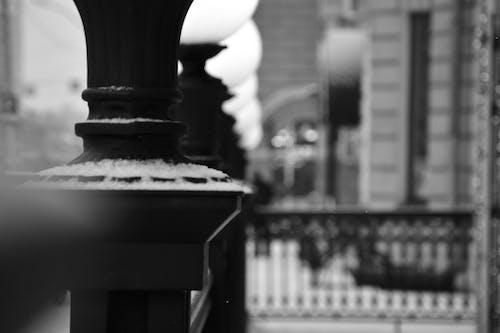 Foto d'estoc gratuïta de blanc i negre, llums, macro