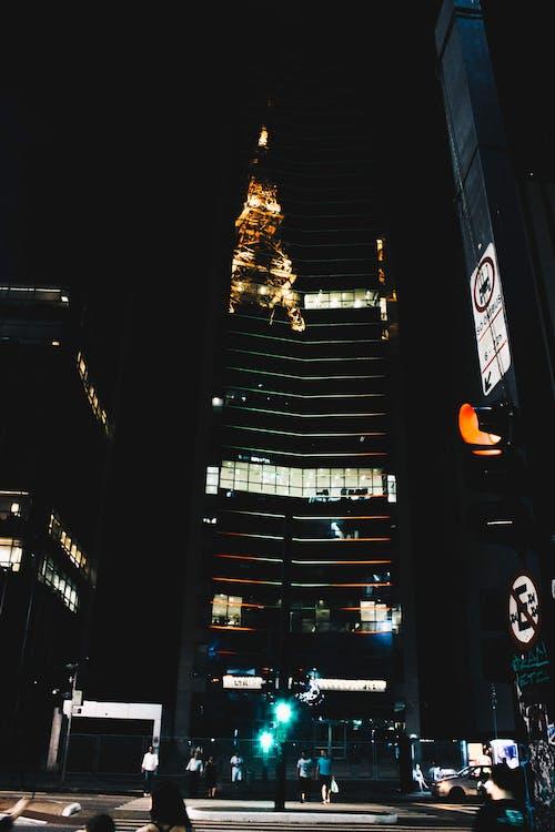 Imagine de stoc gratuită din avenida paulista, Brazilia, lumini de noapte, luminile orașului