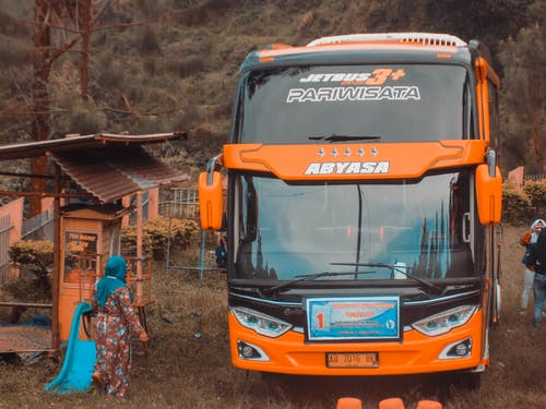 スクールバス, ティール, 山の無料の写真素材