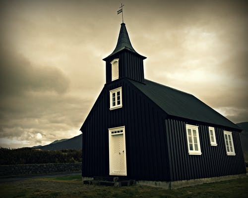 Free stock photo of black and white, christianity, church, iceland