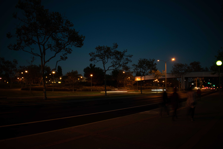 Free stock photo of night, night lights, road