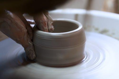 Free stock photo of art, ceramic, ceramics jigger, clay