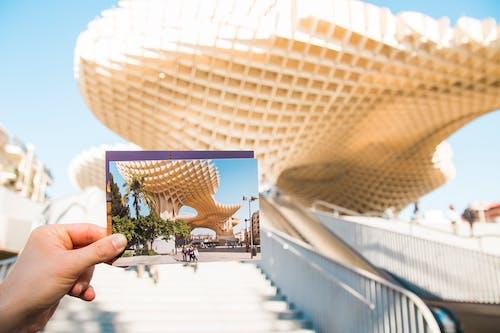 Person Holding Gold Landmark Photo