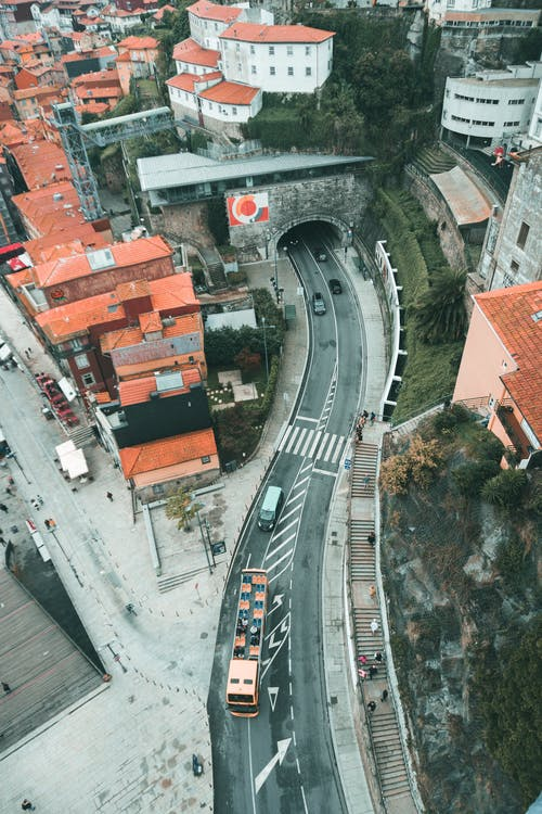 Bird's Eye View Of Roadway