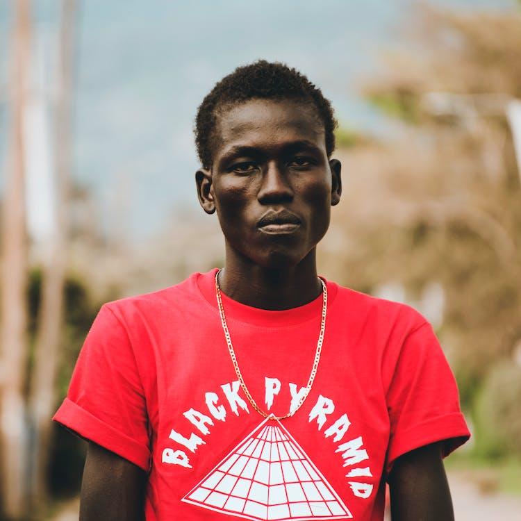 afrikai, álló kép, arckifejezés