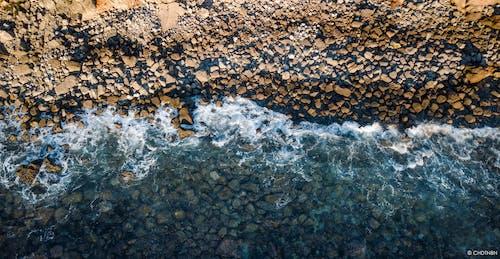 Ingyenes stockfotó brech, drone beach, drónfelvétel, drónfotózás témában