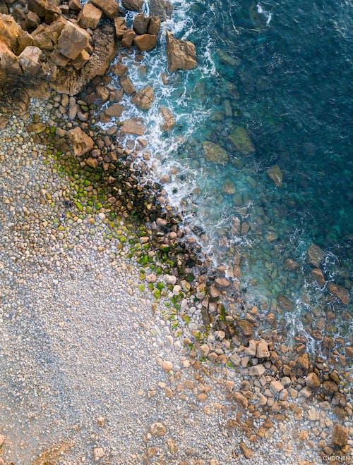 Gratis lagerfoto af brech, drone beach, dronefotografering, droneoptagelse