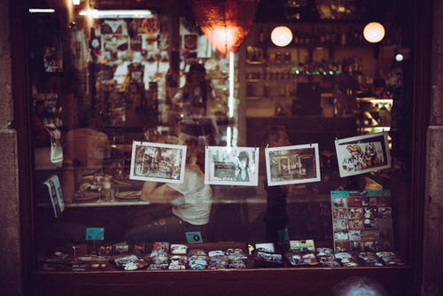 Free stock photo of barcelona, pictures, pub, shop window