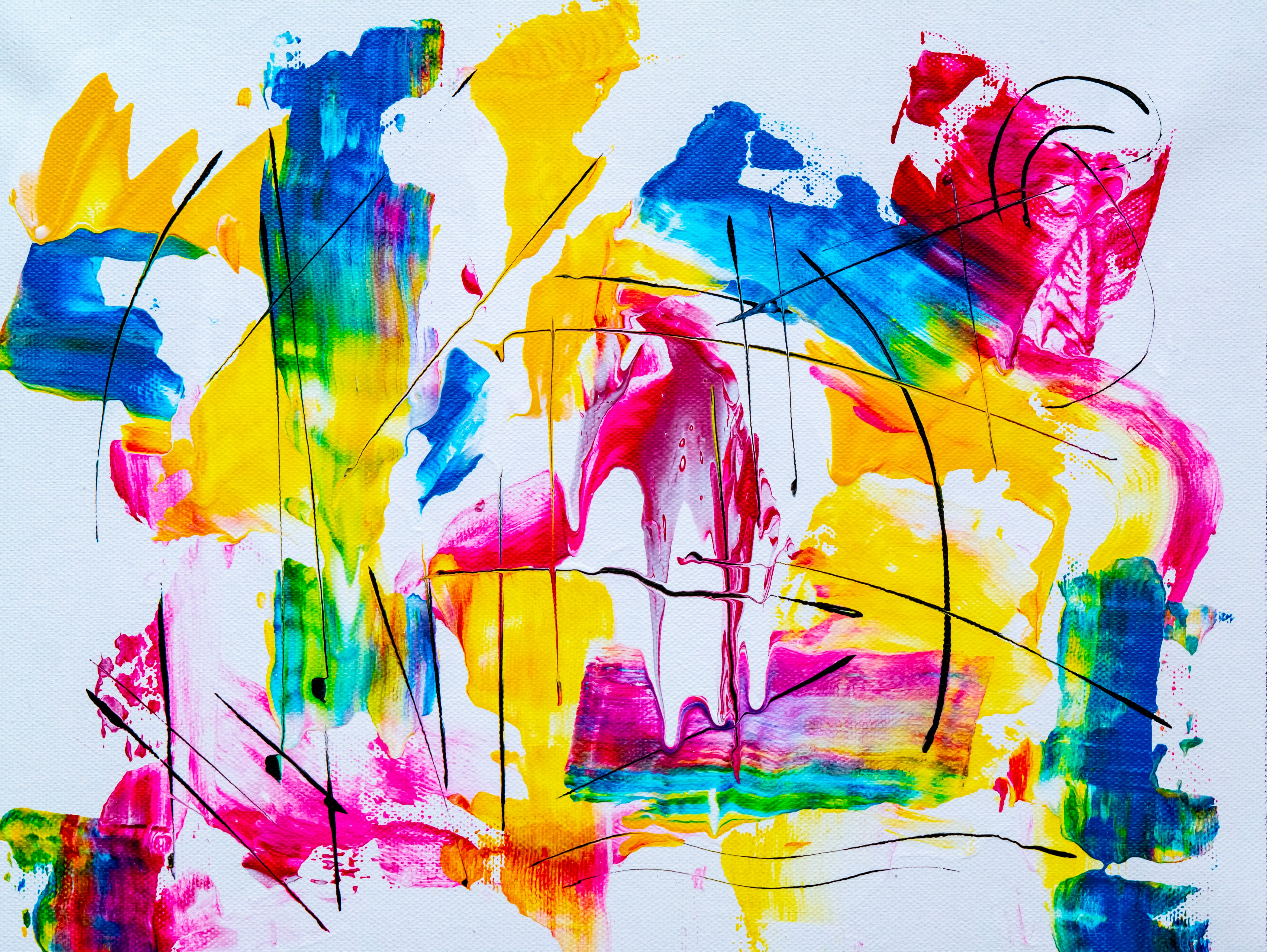 Photo of Abstract Painting On Canvas