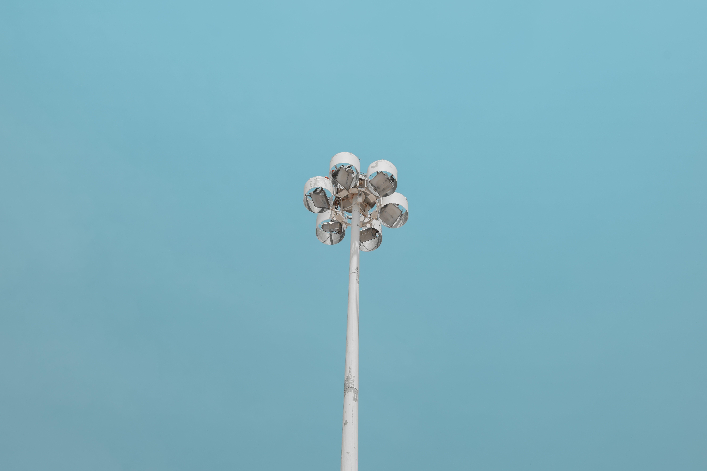 White Lamp Post
