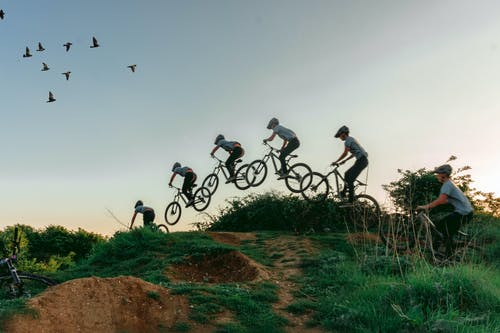 mtb, イーストサセックス, ジャンプする, バイカーの無料の写真素材